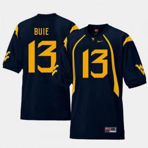 Andrew Buie WVU Jersey College Football Mens Navy #13 Replica 511950-640