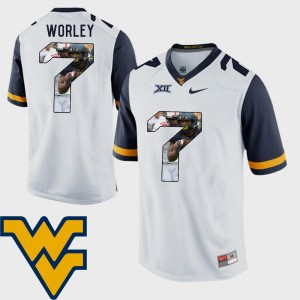 Daryl Worley WVU Jersey Football Pictorial Fashion #7 White Mens 761851-844