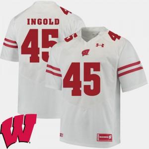 White Alec Ingold Wisconsin Jersey #45 Alumni Football Game 2018 NCAA For Men's 862602-982