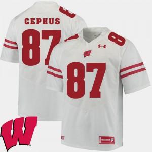 2018 NCAA Men's Quintez Cephus Wisconsin Jersey Alumni Football Game #87 White 492103-490