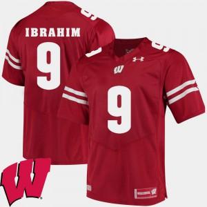 #9 Rachid Ibrahim Wisconsin Jersey Red For Men Alumni Football Game 2018 NCAA 923153-401