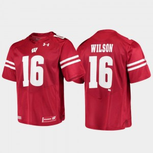 Replica #16 Alumni Football Game Russell Wilson Wisconsin Jersey Mens Red 285670-956