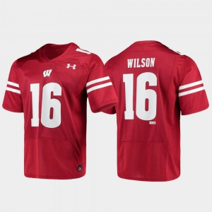 Men's #16 Alumni Football Russell Wilson Wisconsin Jersey Red Replica 988530-452