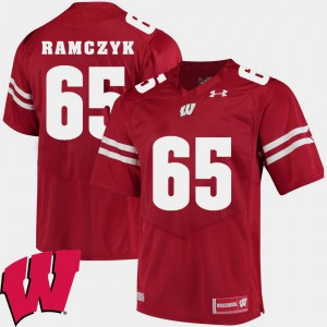 #65 2018 NCAA Alumni Football Game Ryan Ramczyk Wisconsin Jersey Red Men 792012-186