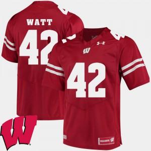T.J. Watt Wisconsin Jersey Mens 2018 NCAA #42 Red Alumni Football Game 867828-704