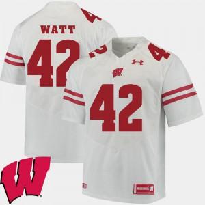 T.J. Watt Wisconsin Jersey Men's 2018 NCAA Alumni Football Game #42 White 499405-950