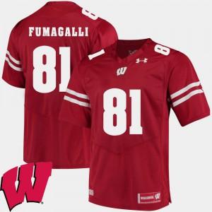 2018 NCAA #81 Troy Fumagalli Wisconsin Jersey Men's Alumni Football Game Red 617971-315