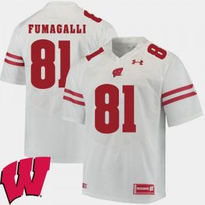 2018 NCAA Alumni Football Game White Mens Troy Fumagalli Wisconsin Jersey #81 628606-349