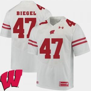 Vince Biegel Wisconsin Jersey 2018 NCAA Men's #47 White Alumni Football Game 159970-267