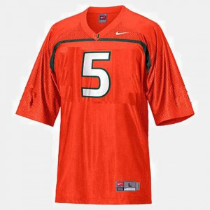 College Football Orange Andre Johnson Miami Jersey #5 For Kids 380229-214