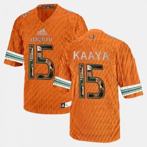 Brad Kaaya Miami Jersey Orange Mens Player Pictorial #15 714963-777