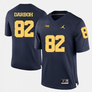 #82 Amara Darboh Michigan Jersey College Football For Men Navy Blue 849324-224