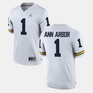 Ann Arbor Michigan Jersey Alumni Football Game For Men's White #1 425064-234