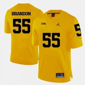 #55 Yellow Brandon Graham Michigan Jersey Mens College Football 766694-956
