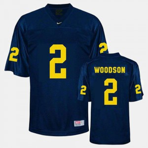 #2 Youth College Football Blue Charles Woodson Michigan Jersey 117987-508