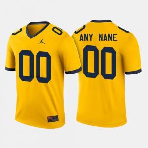 Maize Michigan Custom Jerseys For Men's #00 College Football 309204-265