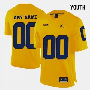 College Limited Football Yellow Michigan Custom Jerseys For Kids #00 591084-322