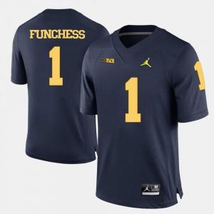 Devin Funchess Michigan Jersey Men #1 Navy Blue College Football 542376-552