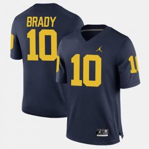 #10 For Men Alumni Football Game Tom Brady Michigan Jersey Navy 920329-518