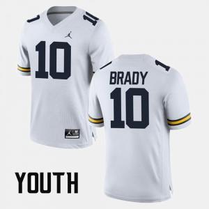 Tom Brady Michigan Jersey White Alumni Football Game #10 Kids 849886-167