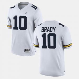 White #10 Alumni Football Game Tom Brady Michigan Jersey For Men's 617903-707