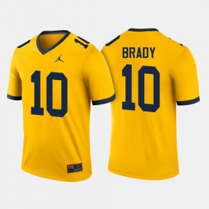 #10 Maize Mens College Football Tom Brady Michigan Jersey 421583-754