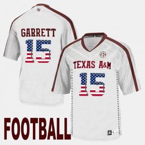 White US Flag Fashion Myles Garrett Texas A&M Jersey Mens #15 218435-580