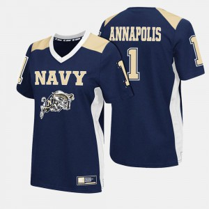 Navy Jersey Navy #1 For Women College Football 678934-725