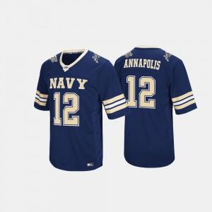 Men's Navy #12 Navy Jersey Hail Mary II 427385-453