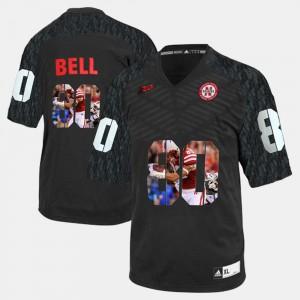 #80 Player Pictorial Kenny Bell Nebraska Jersey Black Men 741420-691