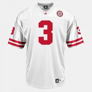 College Football White #3 Men's Taylor Martinez Nebraska Jersey 488636-691
