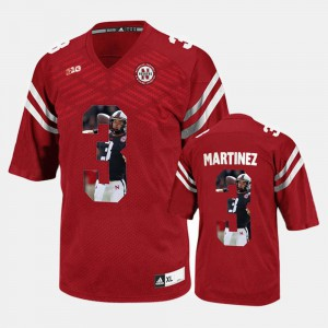 Taylor Martinez Nebraska Jersey #3 Player Pictorial Red Mens 392855-576