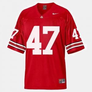 Red College Football #47 Men's A.J. Hawk OSU Jersey 600453-417