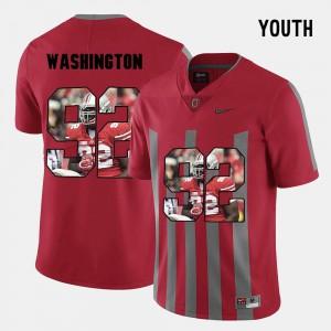 Youth(Kids) Adolphus Washington OSU Jersey #92 Red Pictorial Fashion 323572-852