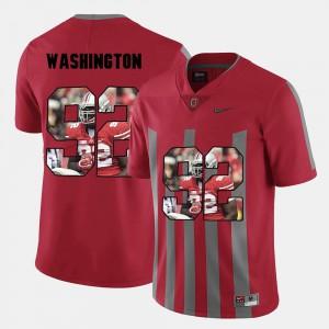 Pictorial Fashion For Men's Red Adolphus Washington OSU Jersey #92 498956-757