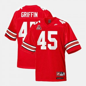 College Football Archie Griffin OSU Jersey Red For Men #45 725816-419