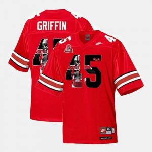 #45 Scarlet Throwback Men's Archie Griffin OSU Jersey 198256-505