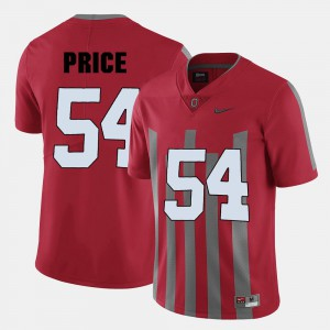 Red #54 College Football Mens Billy Price OSU Jersey 871891-269