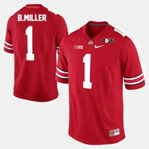 Men's #1 Braxton Miller OSU Jersey Red College Football 102004-941