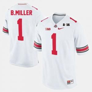 Braxton Miller OSU Jersey #1 College Football For Men's White 940029-865