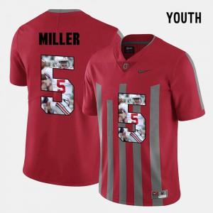 #5 Pictorial Fashion For Kids Red Braxton Miller OSU Jersey 145887-167