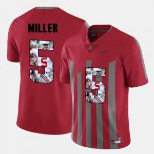 #5 Pictorial Fashion Red Mens Braxton Miller OSU Jersey 711798-469