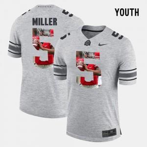 Gray Braxton Miller OSU Jersey Pictorial Gridiron Fashion Kids #5 Pictorital Gridiron Fashion 720699-718