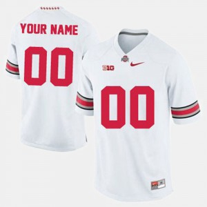 College Football White #00 OSU Custom Jerseys Mens 269986-140
