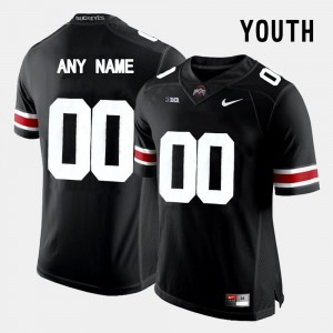 #00 Black Youth OSU Customized Jersey College Limited Football 653377-672