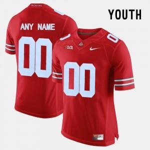 #00 OSU Custom Jersey Kids Red College Limited Football 272695-922
