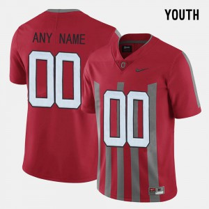 Red #00 Kids OSU Custom Jerseys Throwback 909664-367