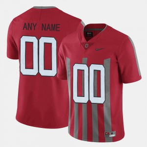 Mens OSU Customized Jerseys #00 Red Throwback 405999-773