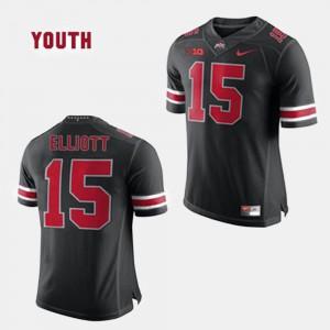 Black #15 Ezekiel Elliott OSU Jersey For Kids College Football 828022-240