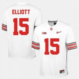 Men's College Football White Ezekiel Elliott OSU Jersey #15 827437-122